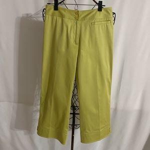 Apple Yellow Cotton/Spandex Capri Pant NWT